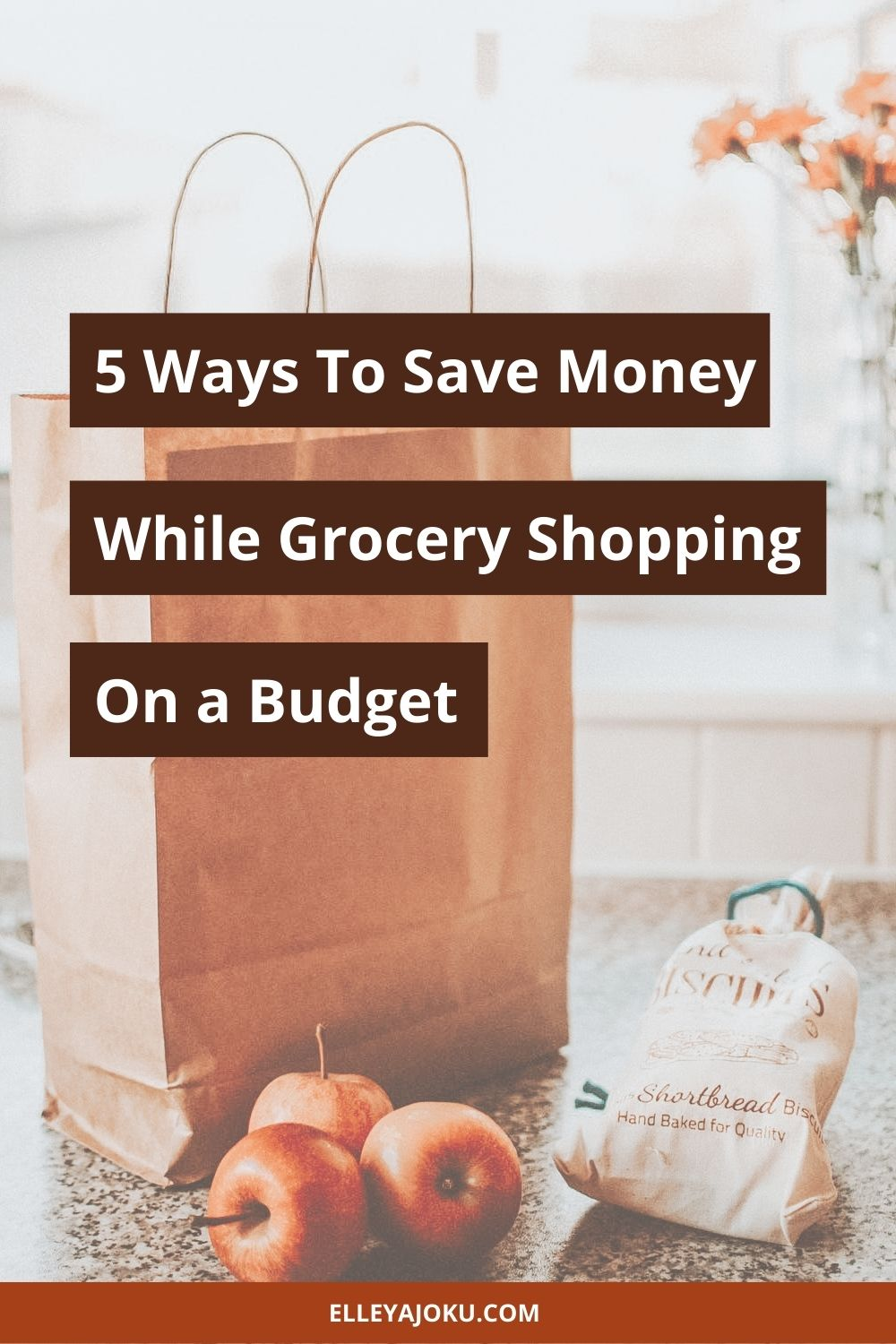 Grocery shopping on a budget pin - Grocery Shopping On A Budget? Here's 5 Ways To Save