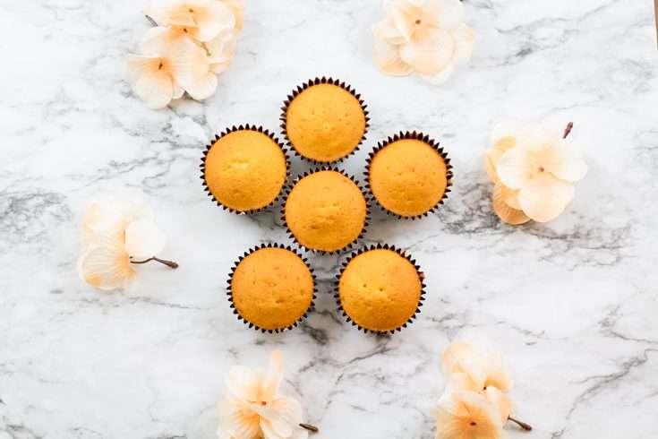 cupcakes flat lay  - Fall creamy cupcakes