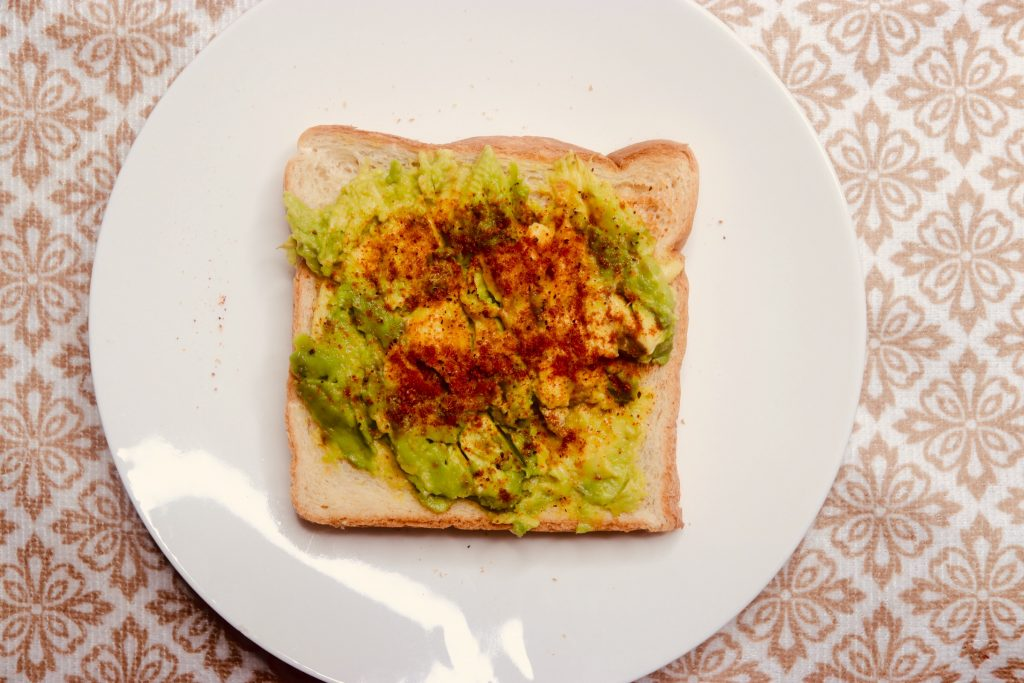 avocado toast bread with pepper 1024x683 - Yummy Avocado Toast And Eggs Recipe For BreakFast