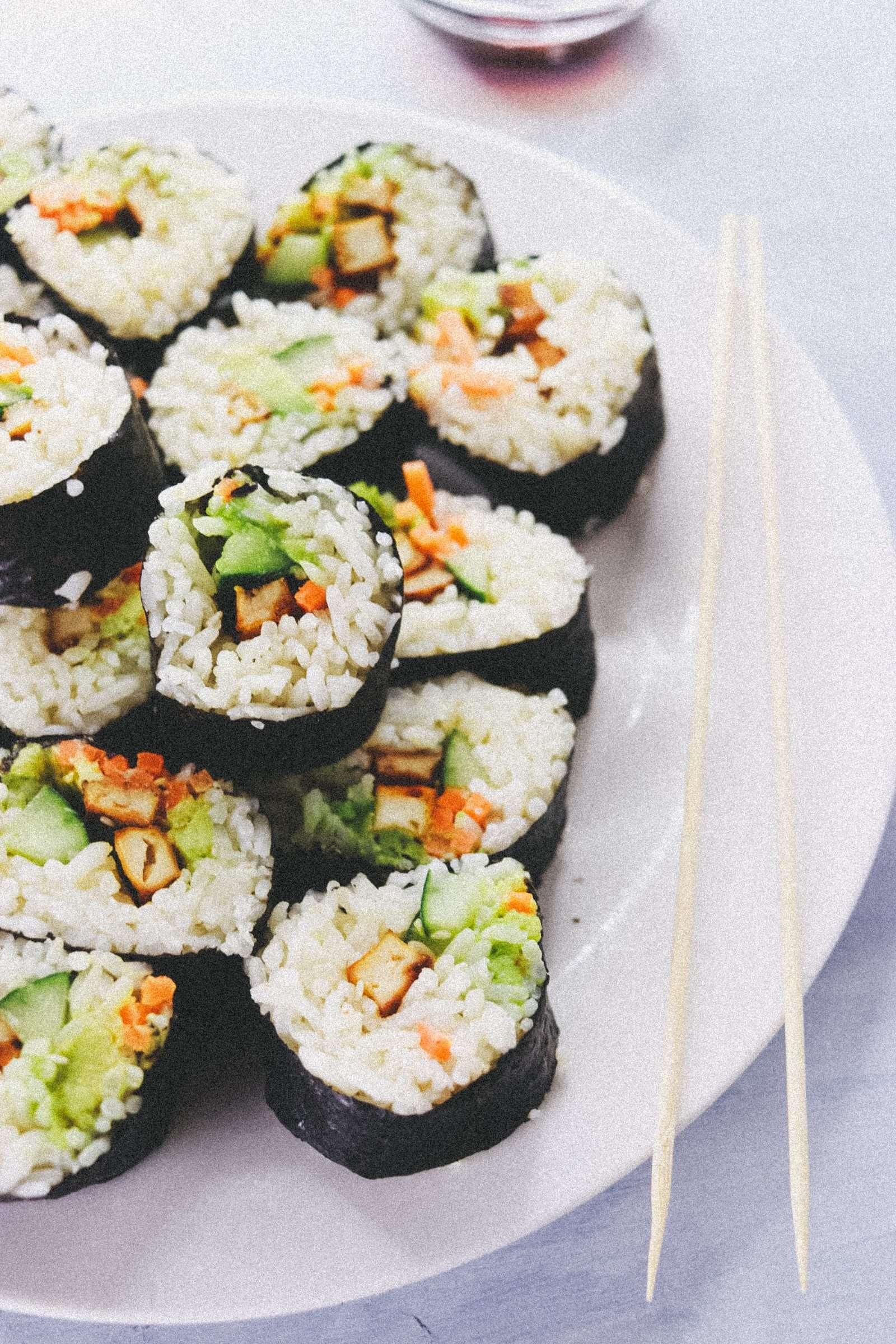 vegan tofu sushi