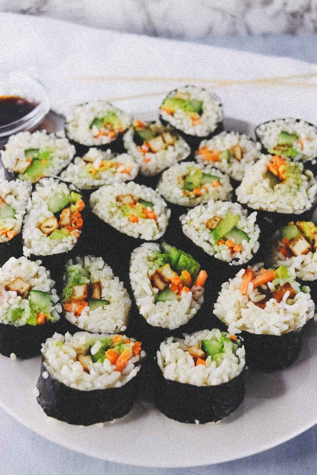 Vegan Tofu Sushi Recipe  4017 1024x1536 - Vegan Sushi Recipe - Super Quick, Easy And Delicious