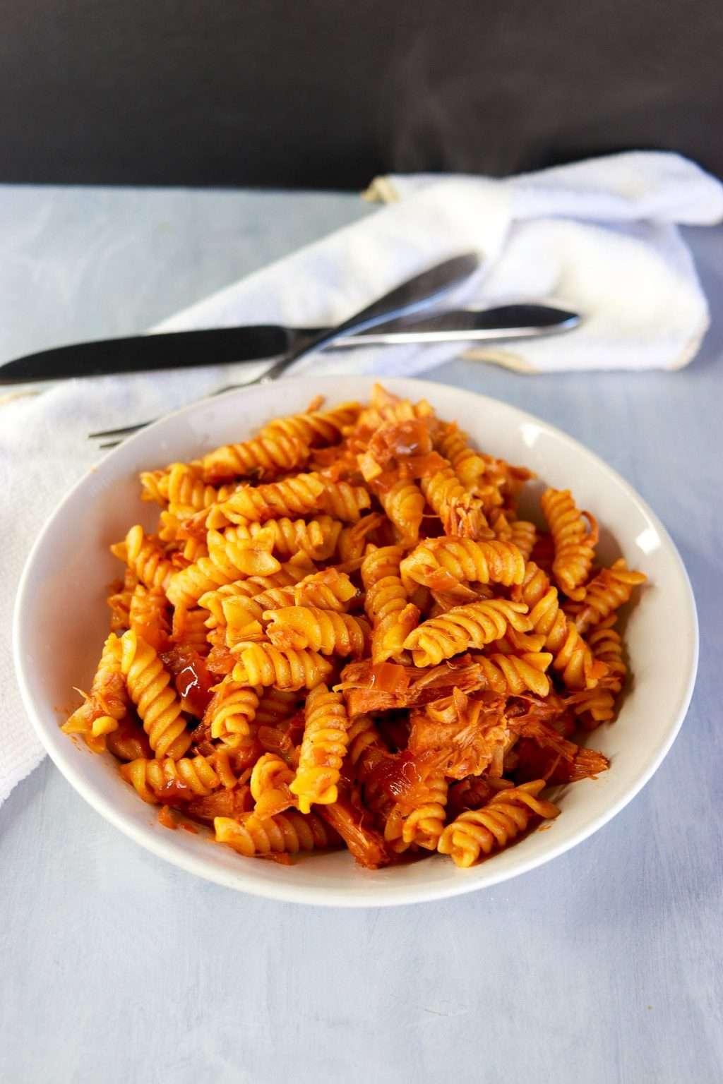 Jackfruit rotini pasta recipe 4189 1024x1536 - Jackfruit Rotini Pasta Recipe: Super Easy & Vegan