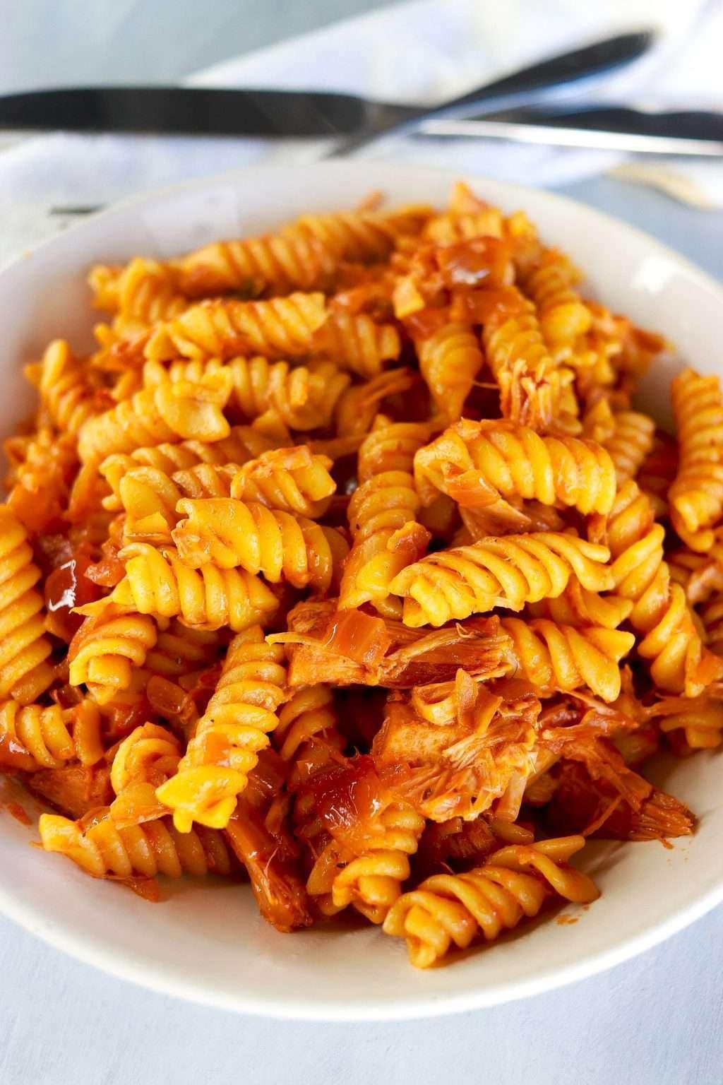 Jackfruit rotini pasta recipe 4190 1024x1536 - Jackfruit Rotini Pasta Recipe: Super Easy & Vegan