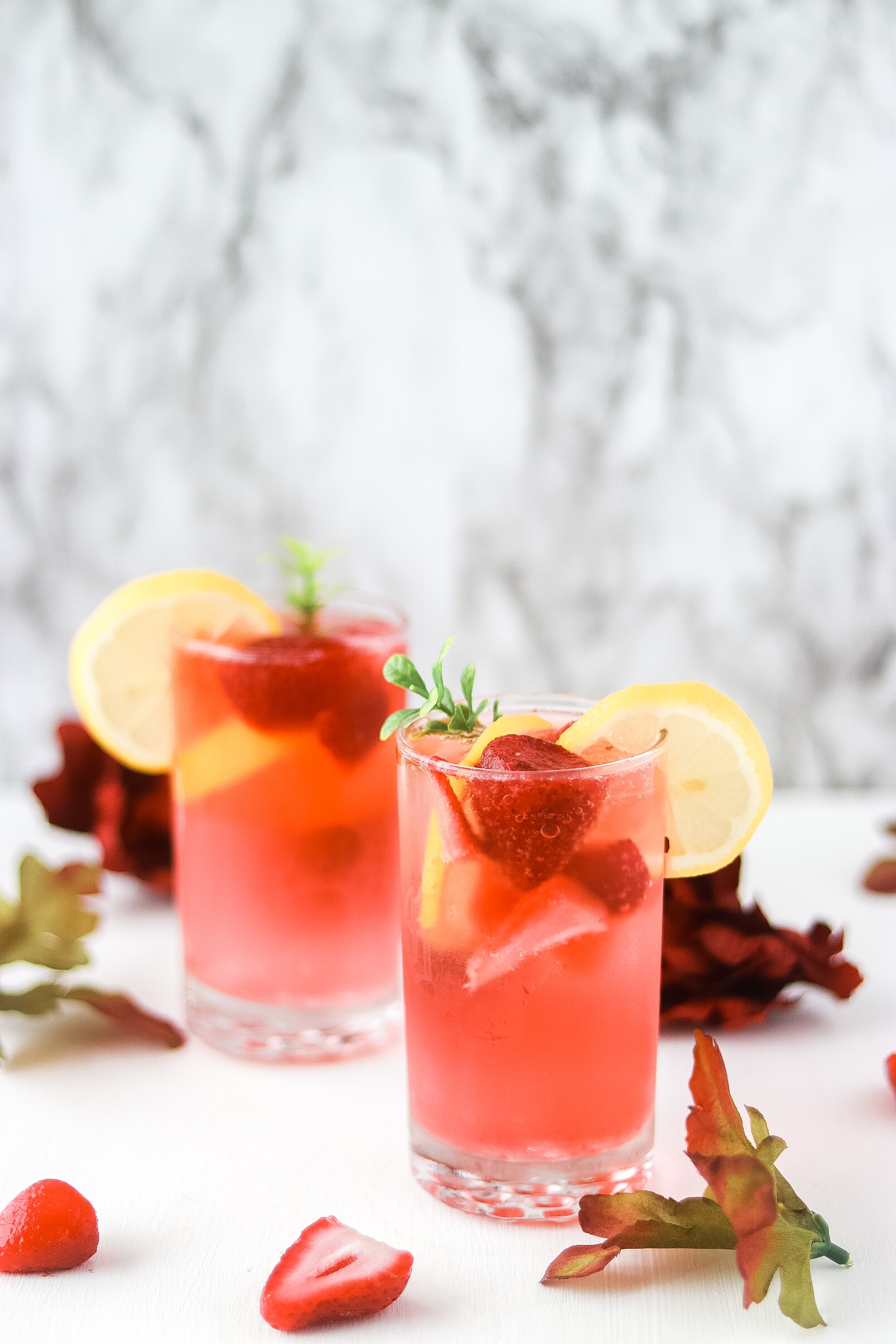 Strawberry sprite mocktail